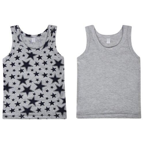 Купить Майка Leader Kids 2 шт., размер 122-128, серый, Белье и пляжная мода