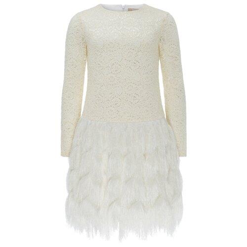 Купить Платье Смена размер 128/64, молочный, Платья и сарафаны