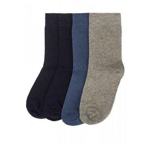 Купить Носки Oldos комплект 4 пары размер 29-31, серый/джинс/темно-синий
