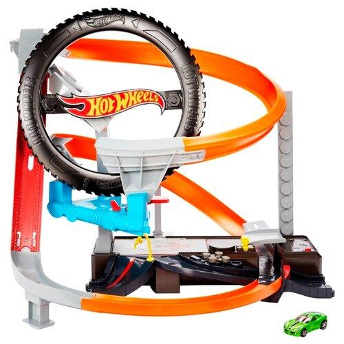 Купить Трек Hot Wheels Hyper-Boost Tire Shop GJL16, Детские треки и авторалли