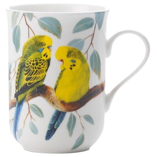 MAXWELL & WILLIAMS Кружка Волнистые попугаи 300 мл белый/желтый/зеленый