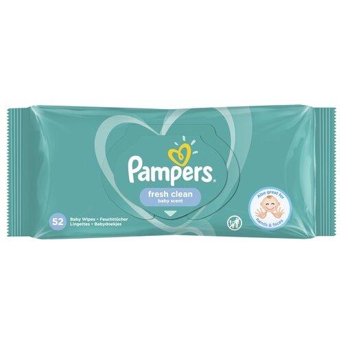 Купить Влажные салфетки Pampers Fresh Clean пластиковая крышка 52 шт.