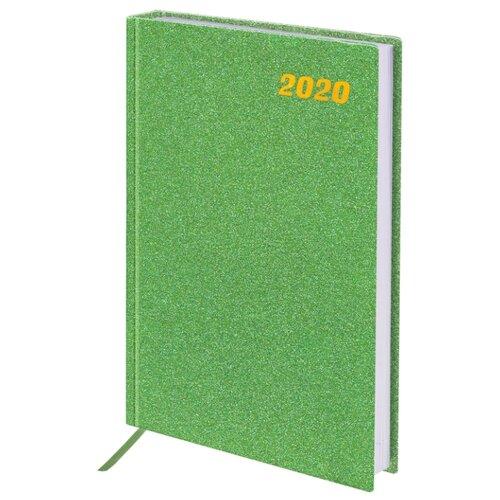 Ежедневник BRAUBERG Holiday датированный на 2020 год, А5, 168 листов, зеленый