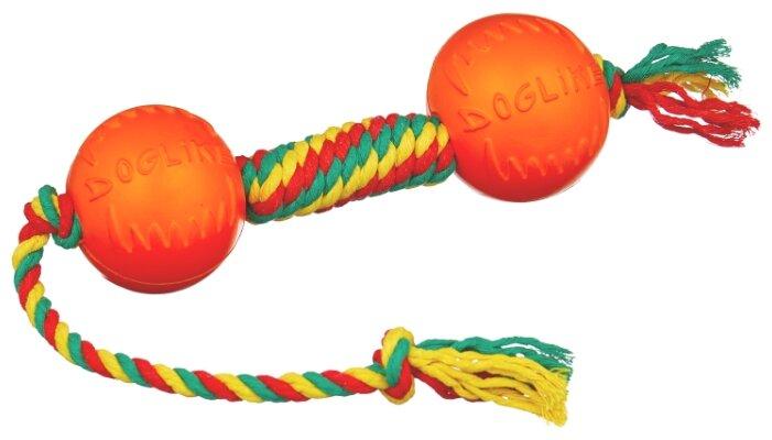 Гантель для собак Doglike Dental Knot канатная цветная малая (D-2370Ц)