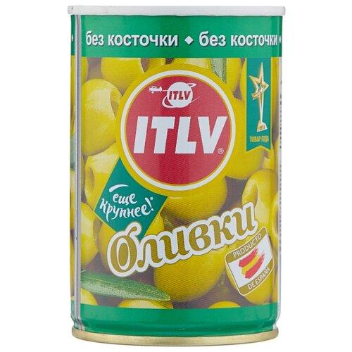 ITLV Оливки зеленые без косточки в рассоле, жестяная банка 300 г 314 мл ideal оливки зеленые без косточки жестяная банка 300 г