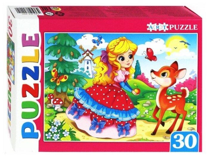 Пазл Рыжий кот Artpuzzle Принцесса и Олененок (ПА-4491), 30 дет.