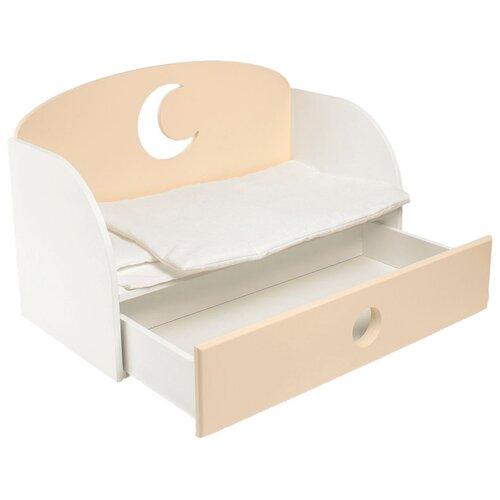 Купить PAREMO Диван-кровать для кукол Луна (PFD120-19/PFD120-20) бежевый, Мебель для кукол