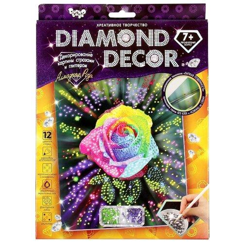 Купить Danko Toys Набор алмазной вышивки Diamond Decor Алмазная роза (DD-01-05) 20, 5х26 см, Алмазная вышивка