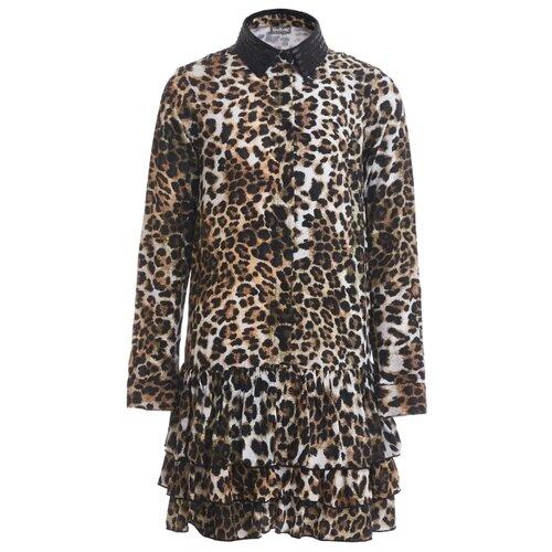Платье Gulliver размер 146, леопардовый брюки gulliver 21908gjc6405 размер 146 леопардовый