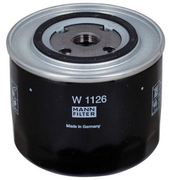 Масляный фильтр MANNFILTER W1126