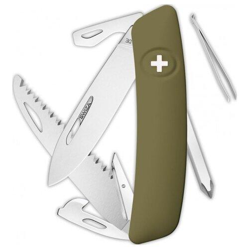Нож многофункциональный SWIZA D06 Standard (12 функций) темно-зеленый
