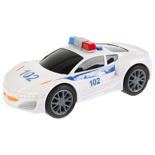 Легковой автомобиль ТЕХНОПАРК Спорткар Полиция (C401-R) 19 см белый легковой автомобиль технопарк электокар x600 h09225 r 10 см черный белый