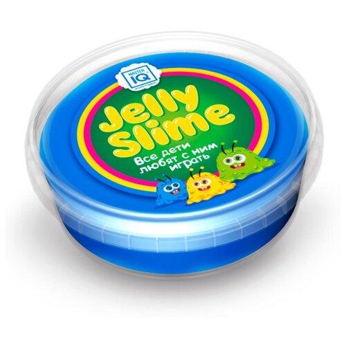 Купить Лизун Master IQ² Jelly Slime с блестками синий, Игрушки-антистресс