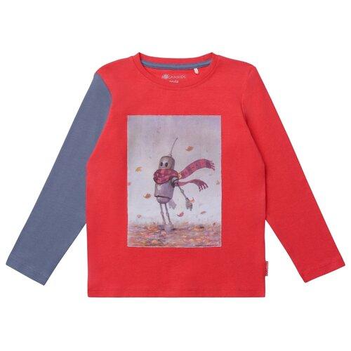 Купить Лонгслив Kogankids размер 128, красный комбинированный, Футболки и майки