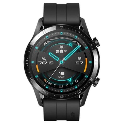Умные часы c GPS HUAWEI Watch GT 2 Sport 46 mm матовый черный умные часы c gps huawei watch gt classic коричневый