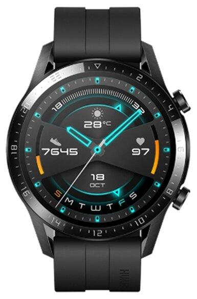 Умные часы HUAWEI Watch GT 2 Sport 46мм, матовый черный фото 1