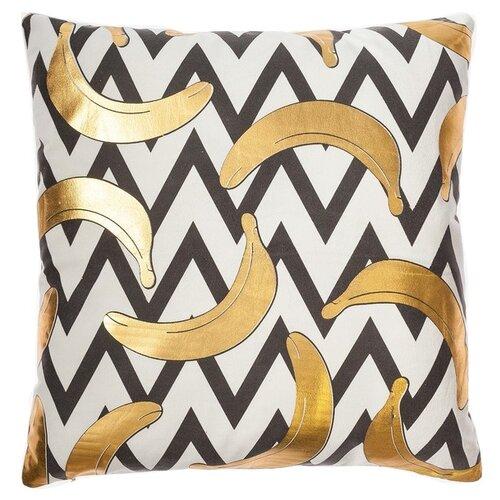 Чехол для подушки Этель Бананы (4439301), 42 х 42 см белый/черный/золотой