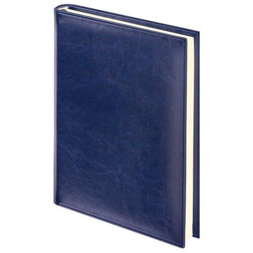 Ежедневник BRAUBERG Imperial недатированный, искусственная кожа, А5, 160 листов, темно-синий ежедневник brauberg cayman недатированный искусственная кожа а5 160 листов черный темно коричневый