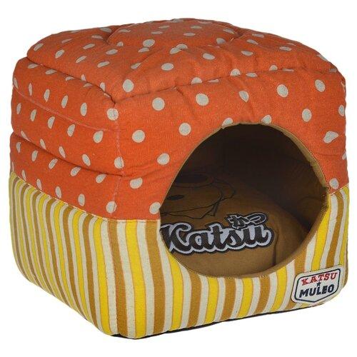 Фото - Домик для собак и кошек Katsu Мулео S 30х30х30 см оранжевый домик для собак и кошек katsu patchwork s 30х30х16 см лиловый