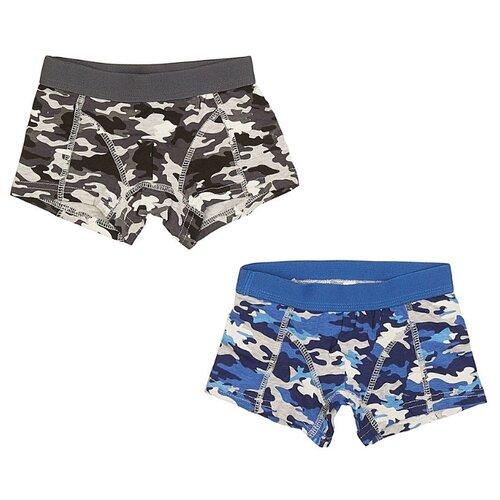 Купить Трусы MODIS 2 шт., размер 122-128, черный/синий, Белье и пляжная мода