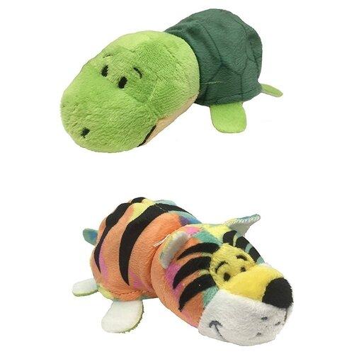 Купить Мягкая игрушка 1 TOY Вывернушка Радужный тигр-Черепашка 12 см, Мягкие игрушки