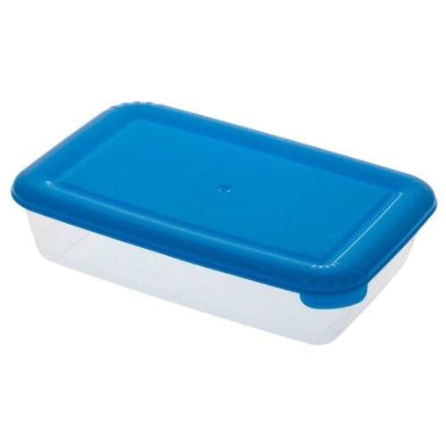 ПОЛИМЕРБЫТ Контейнер Лайт для СВЧ 3 л. прозрачный/синий контейнер для свч полимербыт spring time 1 1 л
