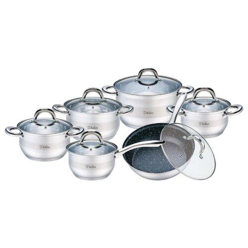 Набор посуды Bollire Salerno BR-4004 12 пр. стальной