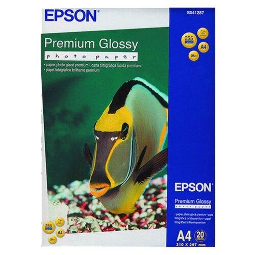 Фото - Бумага Epson A4 Premium Glossy Photo Paper 255 г/м² 20 лист., белый бумага epson a4 premium glossy photo paper c13s041624 255г м2 50 лист белый