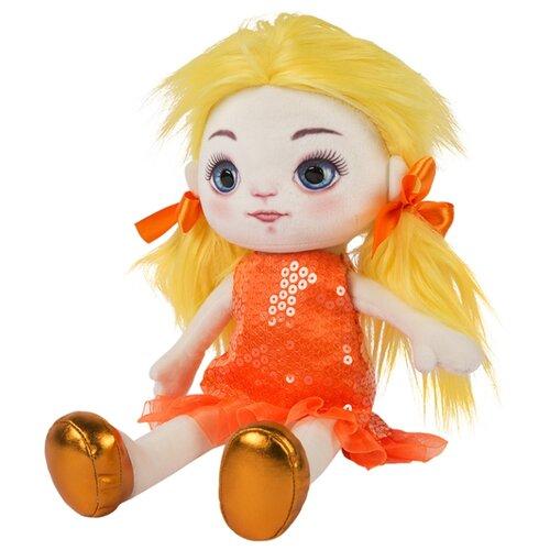 Купить Мягкая игрушка Maxitoys Кукла Милена в оранжевом платье 35 см, Мягкие игрушки