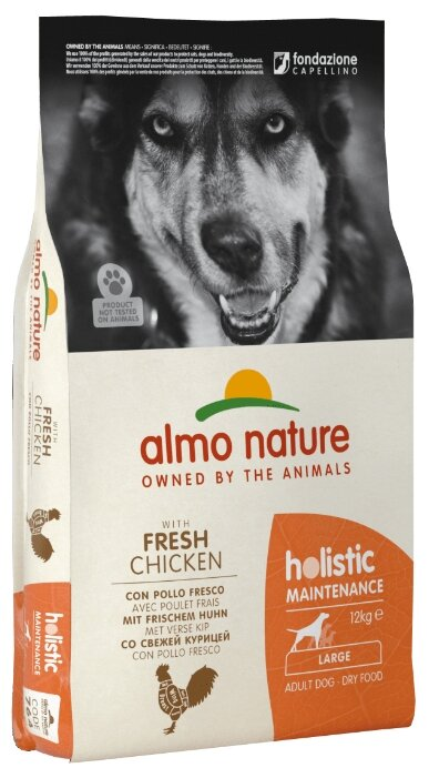 Корм для собак Almo Nature Holistic курица 12 кг (для крупных пород)