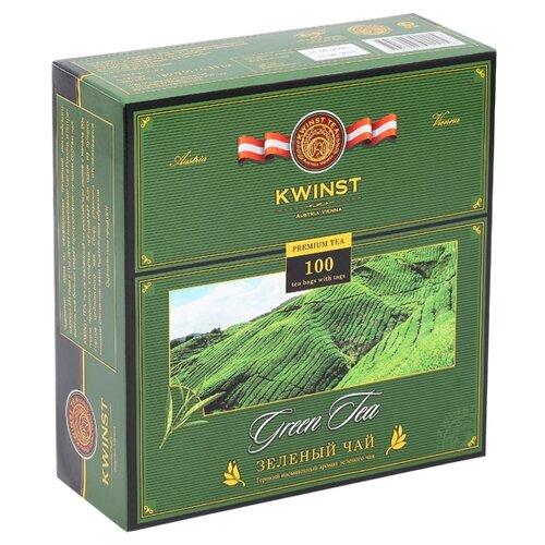 Чай зеленый Kwinst в пакетиках, 100 шт. чай зеленый kwinst китайский 100 пакетиков