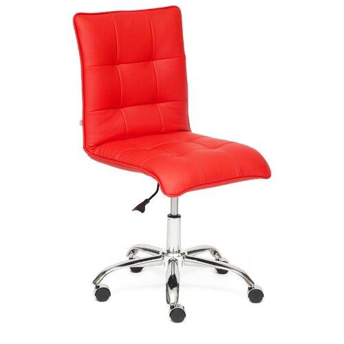 Компьютерное кресло TetChair Zero офисное, обивка: искусственная кожа, цвет: красный компьютерное кресло tetchair барон обивка искусственная кожа цвет бежевый