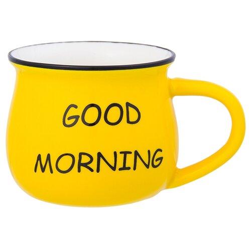 Фото - Elan gallery Кружка Доброе утро 250 мл желтый чайная пара elan gallery шарм чашка на ножке 250 мл 4 предмета 504102