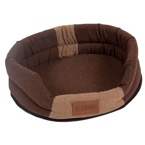 Фото - Лежак для собак и кошек Katsu Animal S 65х54 см коричневый/бежевый домик для собак и кошек katsu patchwork s 30х30х16 см лиловый
