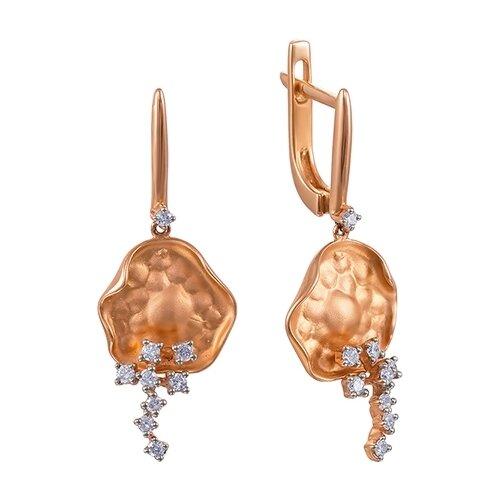 JV Серьги с 18 бриллиантами из красного золота AAS-3827E-SR-PINK