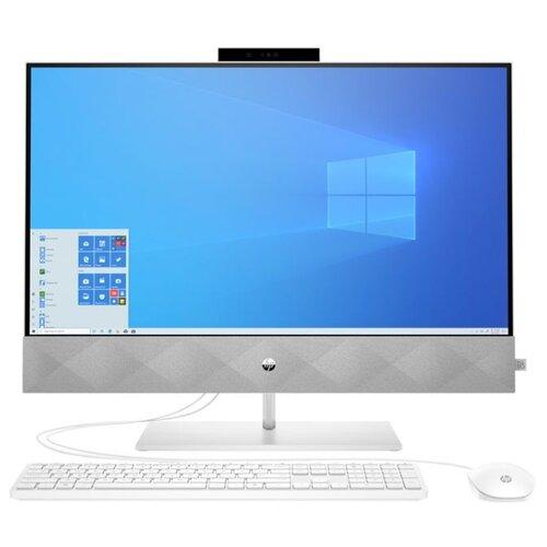 Моноблок HP Pavilion 27-d0007ur 14Q42EA Intel Core i3-10300T/4 ГБ/SSD/Intel UHD Graphics 630/27/1920x1080/Windows 10 Home 64 ноутбук hp pavilion 14 ce2001ur intel core i3 8145u 2100 mhz 14 1920x1080 4gb 128gb ssd no dvd intel uhd graphics 620 wi fi bluetooth windows 10