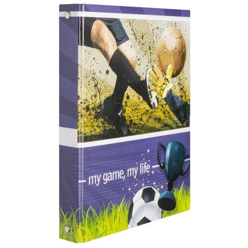 Action! Тетрадь Футбол AN 16089/5, клетка, 160 л. синий/зеленый значок зеленый футбол
