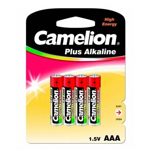 Батарейка Camelion Plus Alkaline AAA, 4 шт. батарейки camelion plus alkaline aaa 24 шт pb 24