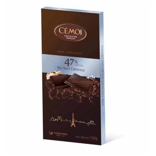 Шоколад Cemoi Горький 47% какао с кристаллами морской соли, 100 г