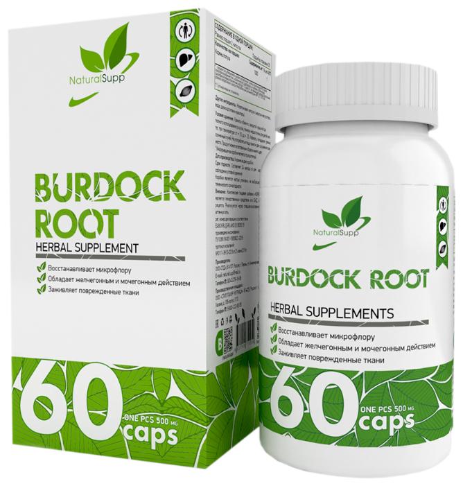 Купить Burdock root NaturalSupp (Корень лопуха) 60 капс. по низкой цене с доставкой из Яндекс.Маркета