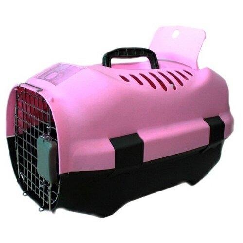 Клиппер-переноска для кошек и собак Родные места D01 47х30х29 см розовый