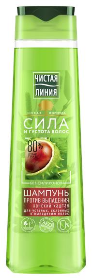 Купить Чистая линия шампунь Против выпадения волос Конский каштан, 400 мл по низкой цене с доставкой из Яндекс.Маркета