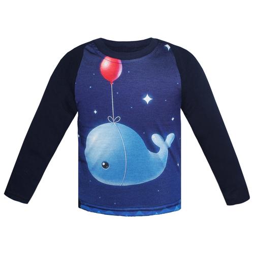 Купить Лонгслив KotMarKot размер 92, темно-синий, Футболки и рубашки