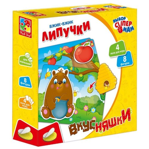 Настольная игра Vladi Toys Вжик-вжик Липучки Вкусняшки VT1302-18 фото