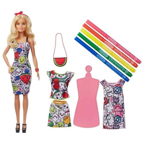 Кукла Barbie Crayola Раскрась наряд, GGT44