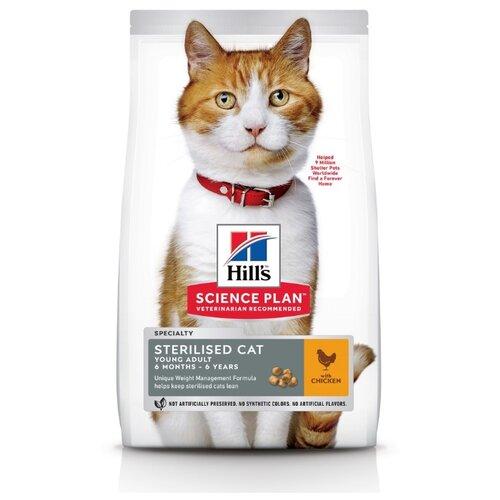Сухой корм для стерилизованных кошек Hill\'s Science Plan, с курицей 300 г