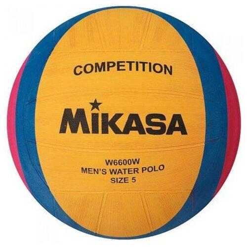 Мяч для водного поло Mikasa W6600W желтый/синий/розовый