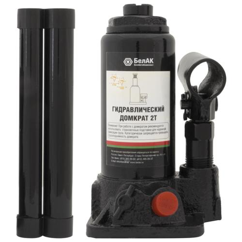 Домкрат бутылочный гидравлический БелАвтоКомплект БАК.00026 (2 т) черный домкрат бутылочный гидравлический белавтокомплект бак 10039 2 т черный