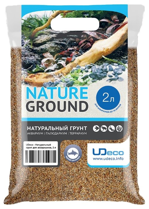 Грунт UDeco River Amber 0,4-0,8 мм 2 л, 3.3 кг