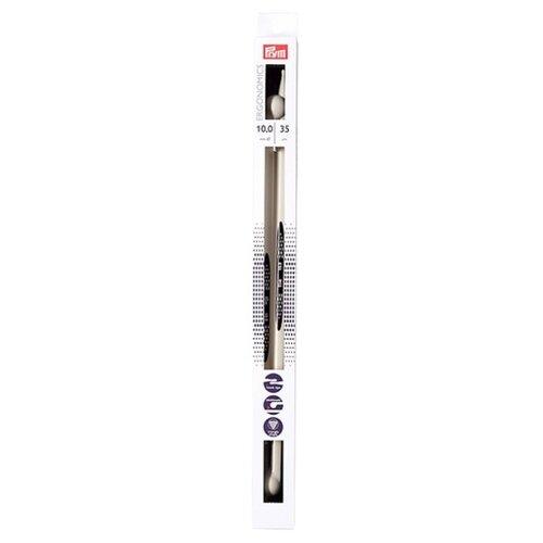 Спицы Prym полимерные Ergonomics, диаметр 10 мм, длина 35 см, алебастровый белый